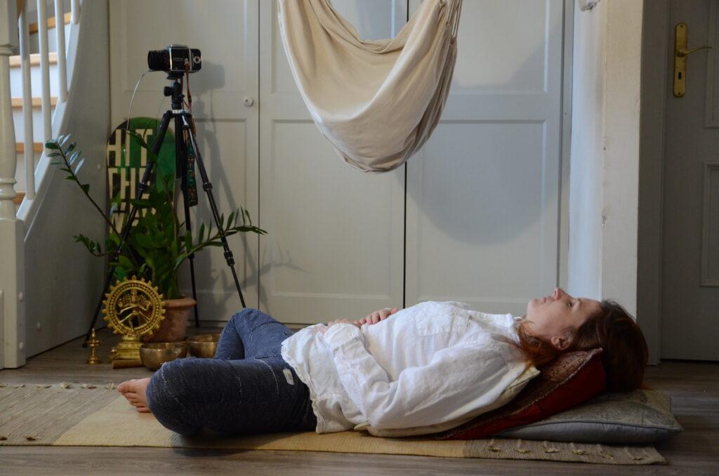 Jógová pozice proti stresu - pozice blaženosti